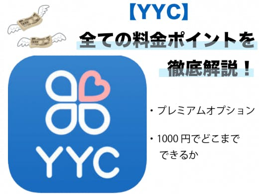 YYCはどこまで無料?全ての料金ポイントについて徹底解説【プレミアムオプションも有り】