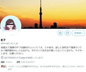 E子さんのTwitter